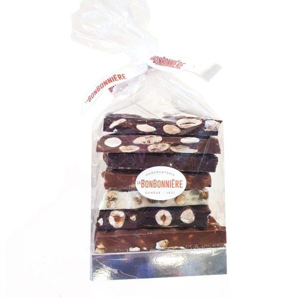 blocs chocolat