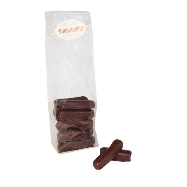 gingembre confit chocolat noir