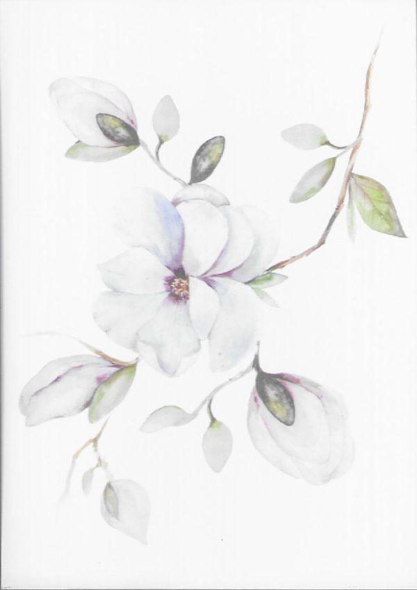 carte fleur illustration